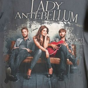 Lady Antebellum 2011 concert graphic band tee